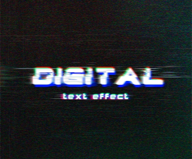 Effet de texte numérique glitch