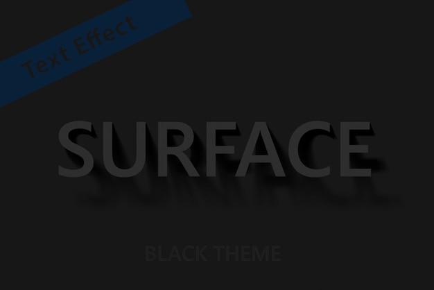 Effet de texte avec oblique shadow black