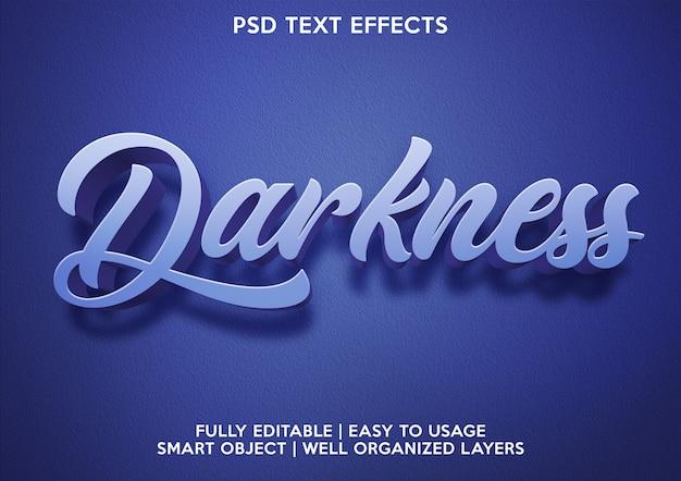 Effet de texte d'obscurité