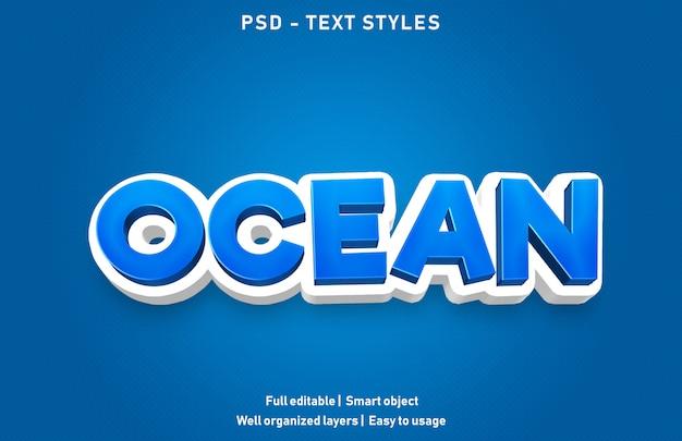 Effet de texte océan