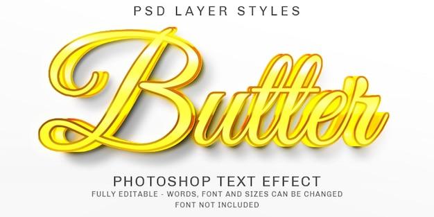 Effet de texte or beurre créatif