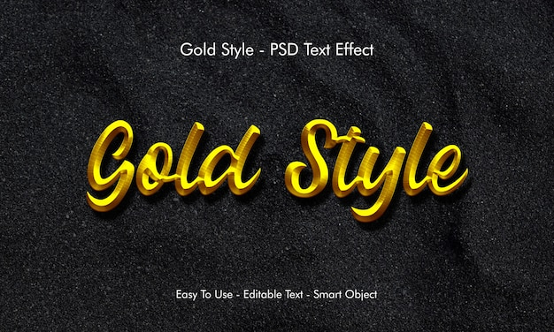 Effet de texte d'or