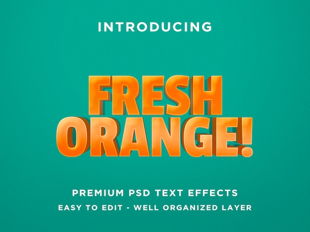 Effet de texte orange frais