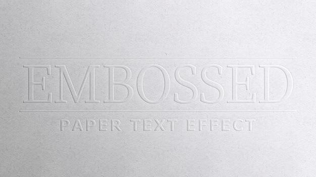 Effet de texte sur papier gaufré