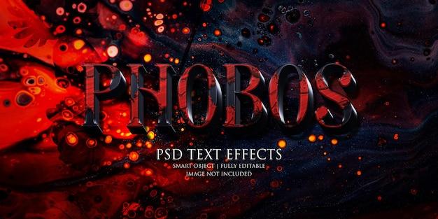 Effet de texte phobos