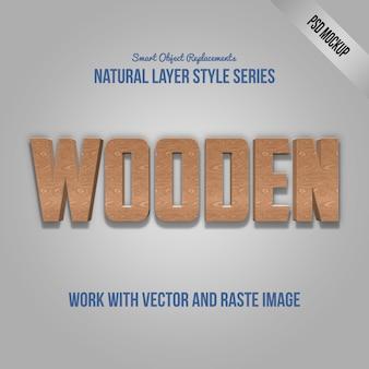Effet de texte photoshop avec psd maquette et style de calque