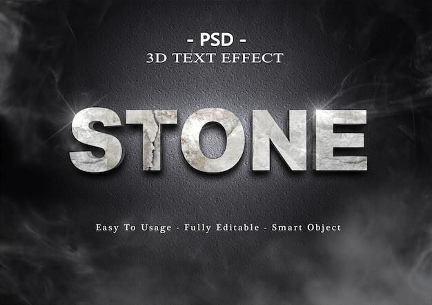 Effet de texte en pierre 3d