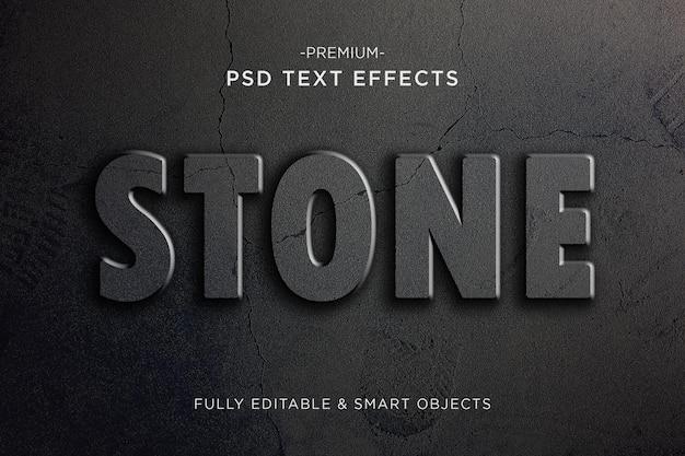 Effet de texte en pierre de crack style de texte fissuré premium psd