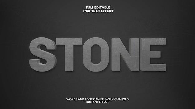 Effet de texte en pierre sculptée