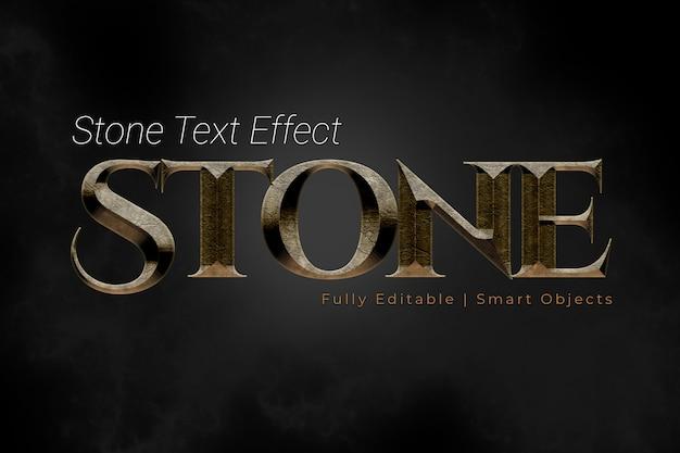 Effet de texte en pierre