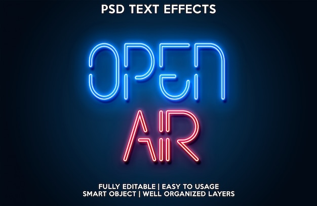Effet de texte en plein air