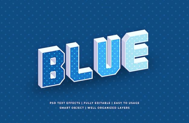 Effet de texte pop classique de couleur bleue de l'année