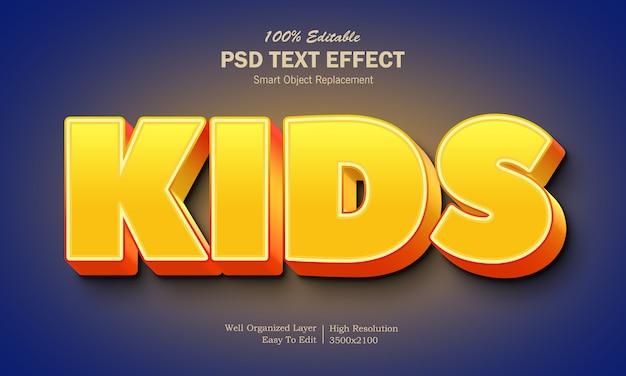 Effet de texte pour enfants de couleur jaune et orange