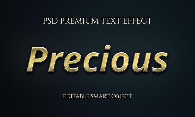 Effet de texte précieux