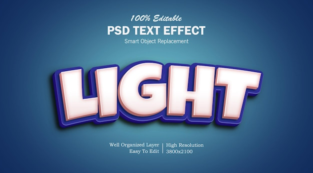 Effet de texte psd léger