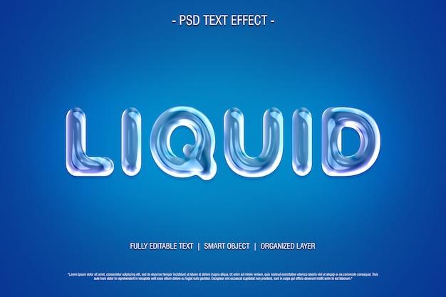 Effet de texte psd liquide