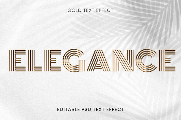 Effet de texte psd modifiable en or