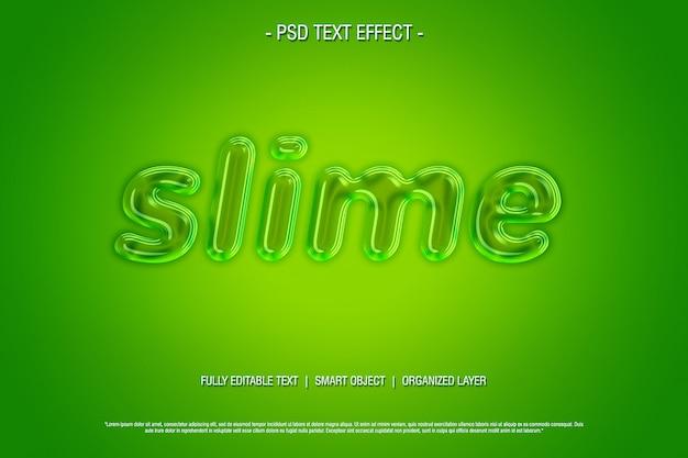 Effet de texte psd slime