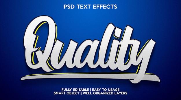 Effet de texte de qualité