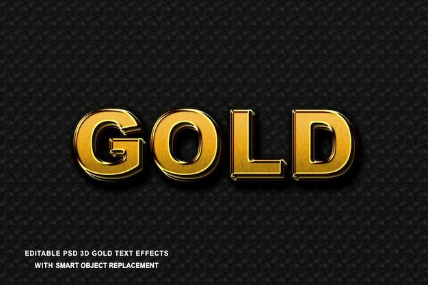 Effet de texte réaliste d'or