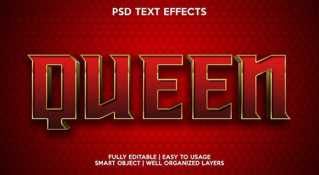 Effet de texte reine