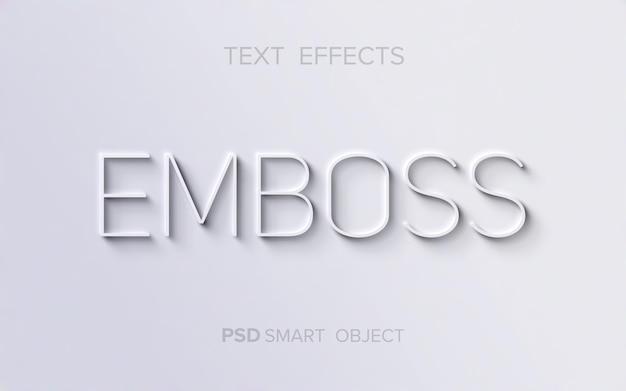 Effet de texte en relief propre