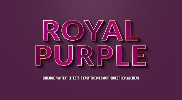 Effet de texte royal purple premium psd