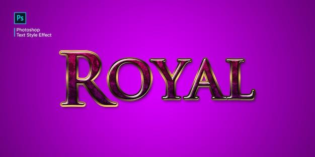 Effet de texte royal rouge