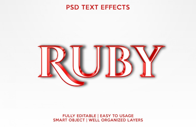 Effet de texte rubis