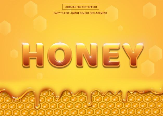 Effet de texte ruche miel et abeille