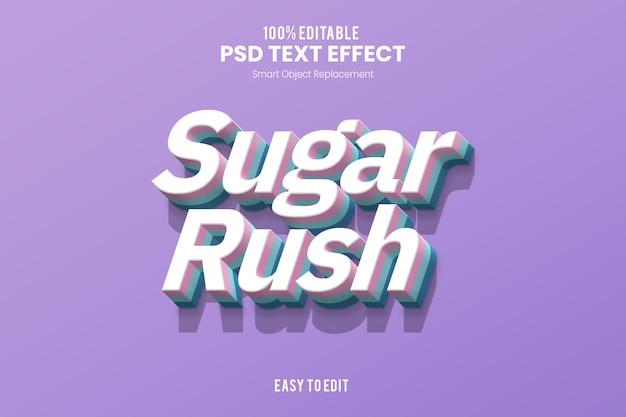 Effet de texte de la ruée vers le sucre