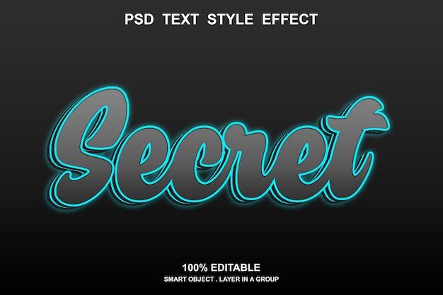 Effet de texte secret
