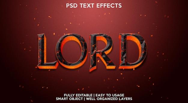 Effet de texte seigneur
