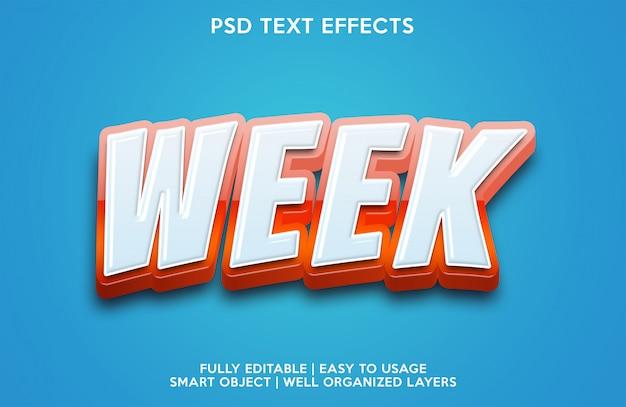 Effet texte semaine