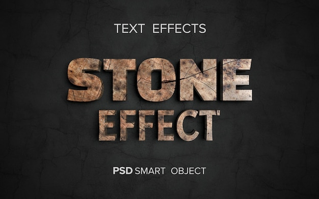 Effet de texte de structure en pierre