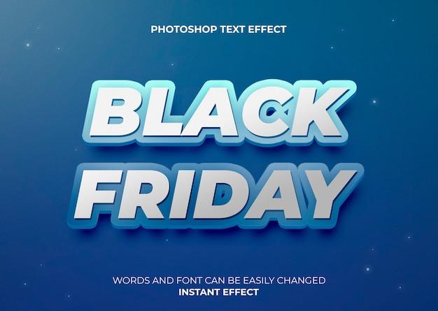 Effet de texte de style bleu black friday