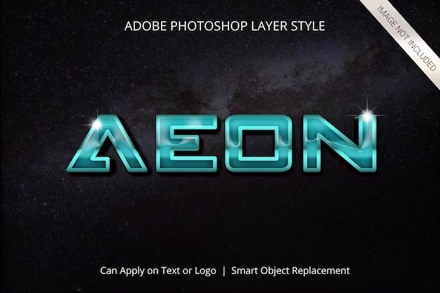 Effet de texte de style de calque adobe photoshop