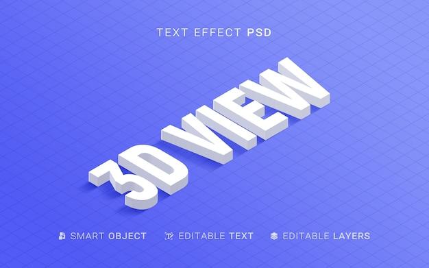 Effet de texte de style d'extrusion