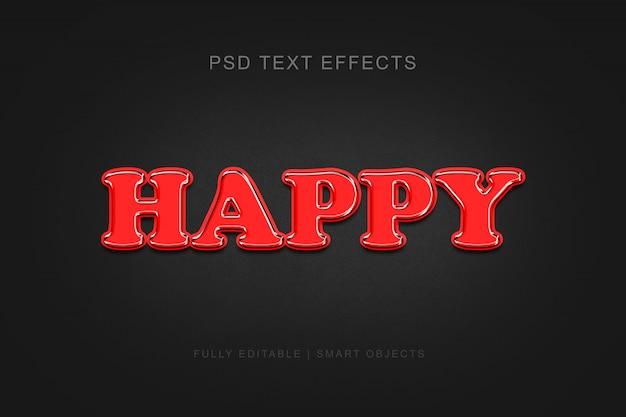 Effet de texte de style graphique modifiable heureux moderne