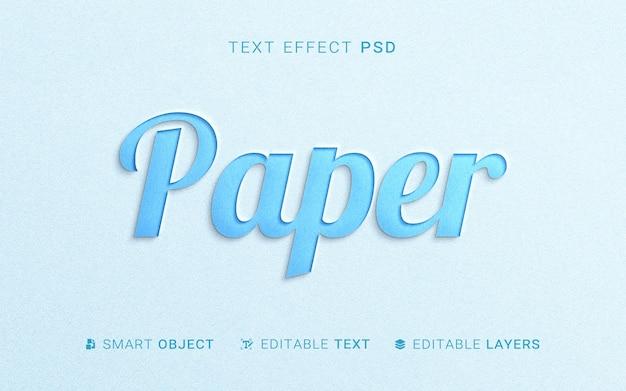 Effet de texte de style papier
