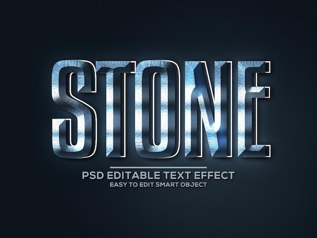 Effet de texte de style pierre