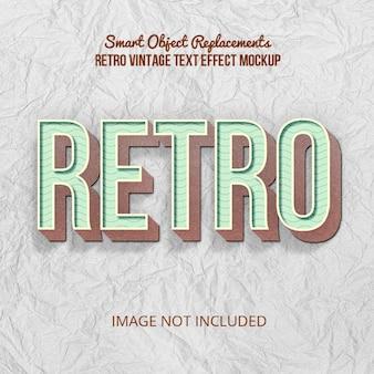 Effet de texte de style rétro vintage