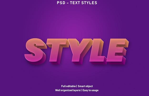 Effet de texte de style