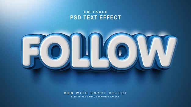 Effet de texte de suivi 3d