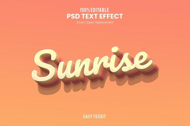 Effet de texte sunrise