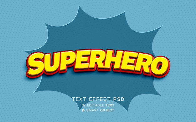 Effet de texte de super héros créatif