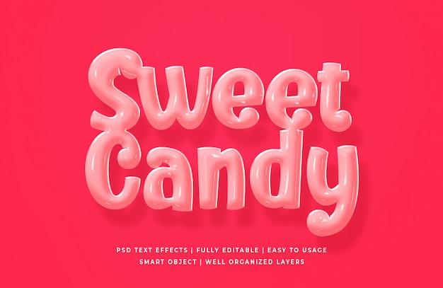 Effet de texte sweet candy