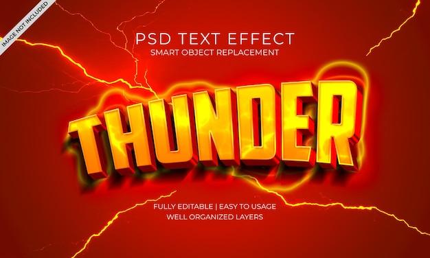 Effet de texte thunder lightning glow