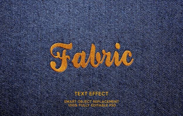 Effet de texte en tissu