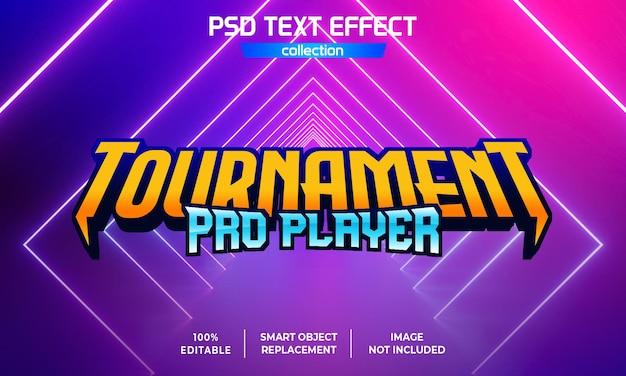 Effet de texte tournament pro player